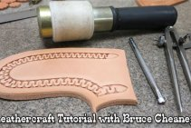 How to Stamp Leather Patterns Leathercraft Tutorial