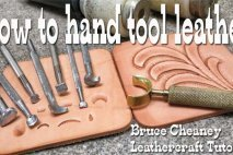Leather Tooling Tutorials with tools for leathercraft designs