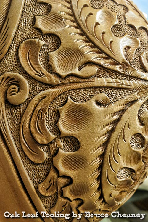 Leather carving by Bruce Cheaney