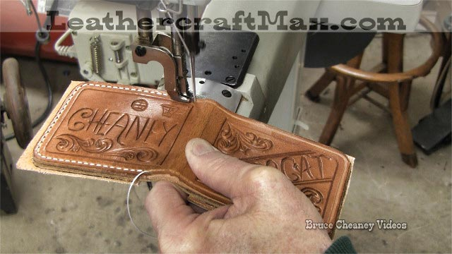 sewing leather wallet