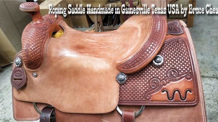 Roping Saddle Handmade in Gainesville Texas USA by Bruce Cheaney